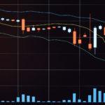 値下がりしている株価チャート